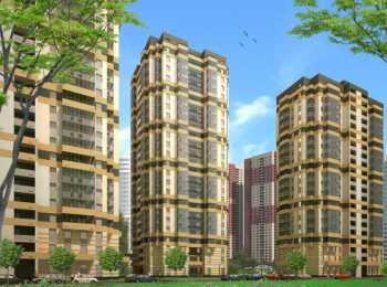 Панорама трех высотных корпусов